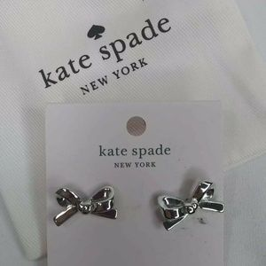 100% Authentic Kate Spade Skinny Mini Bow earrings